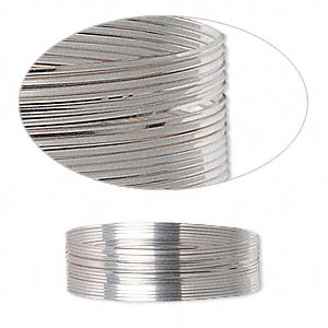 wire, sterling silver, half-hard, square, 26 gauge. sold per pkg of 5 feet.