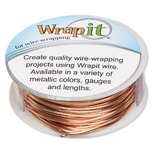 Wrapit copper and copper plated wire wrapping wire fire mountain 52 foot pkg keyboard keysfo Images
