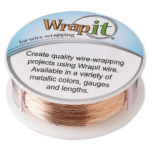 wire, wrapit, bright copper, dead-soft, round, 28 gauge. sold per 1/4 pound spool, approximately 475 feet.
