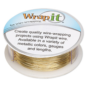 wire, wrapit, jewelers bronze, dead-soft, round, 26 gauge. sold per 1/4 pound spool, approximately 360 feet.