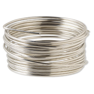 wire, wrapit, nickel silver, half-hard, round, 12 gauge. sold per 1/4 pound spool, approximately 13 feet.