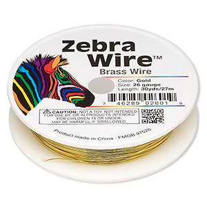 Zebra Wire Gold Colored Wire-Wrapping Wire - Fire Mountain Gems ...