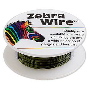 wire, zebra wire™, color-coated copper, lime green, round, 24 gauge. sold per 1/4 pound spool, approximately 71 yards.