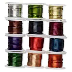 Wire, Zebra Wire™, copper and brass, assorted colors, round, 26 ...