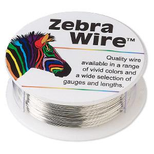 Zebra Wire 26 Ga Silver Colored Wire-Wrapping Wire - Fire Mountain ...