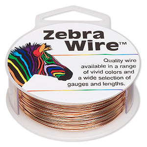 wire, zebra wire™, natural copper, round, 22 gauge. sold per 1/4 pound spool, approximately 45 yards.