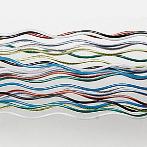 wonder wiggle wire,  assorted colors, .02-inch diameter. sold per pkg of eight 20-inch strands.