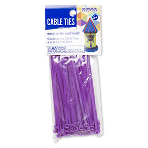 75 purple zip tie pkg
