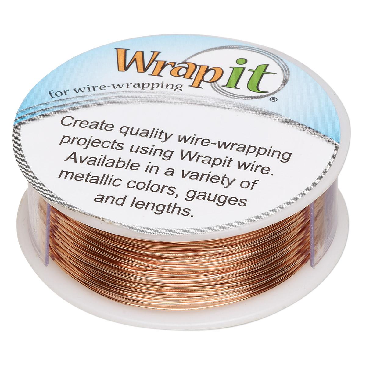 Wire, Wrapit®, Bright Copper, dead-soft, round, 24 gauge. Sold per 1 ...