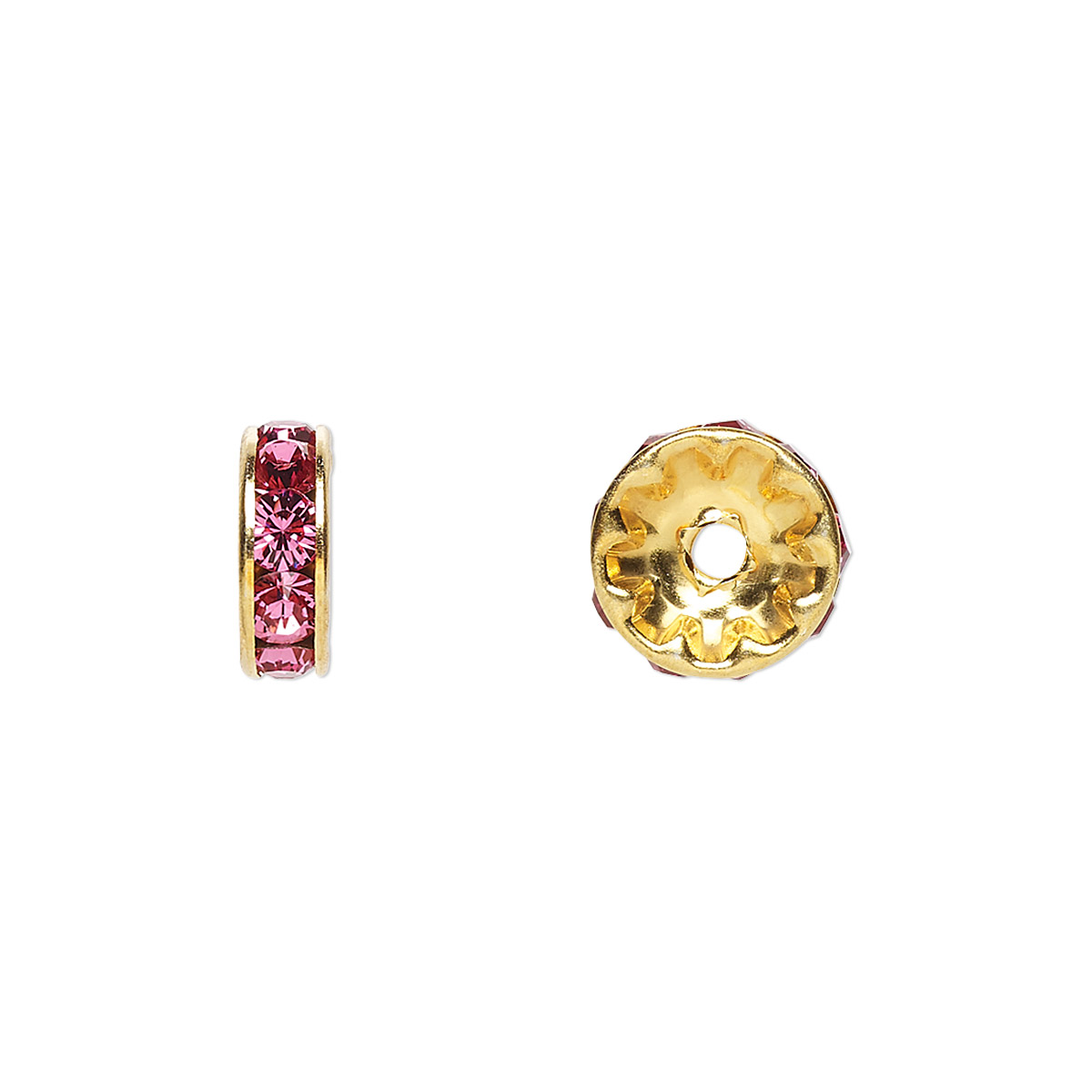 18d45a86ec179 Bead, Swarovski® crystals and gold-plated brass, Crystal Passions ...