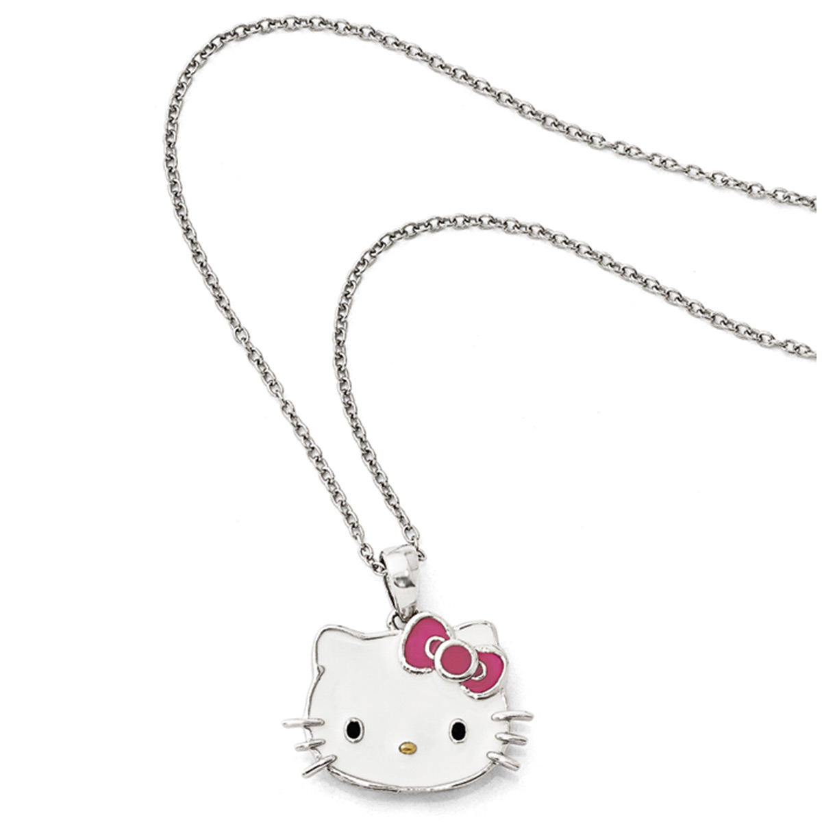 e51fbf63a Necklace, Hello Kitty®, enamel and sterling silver, multicolored ...