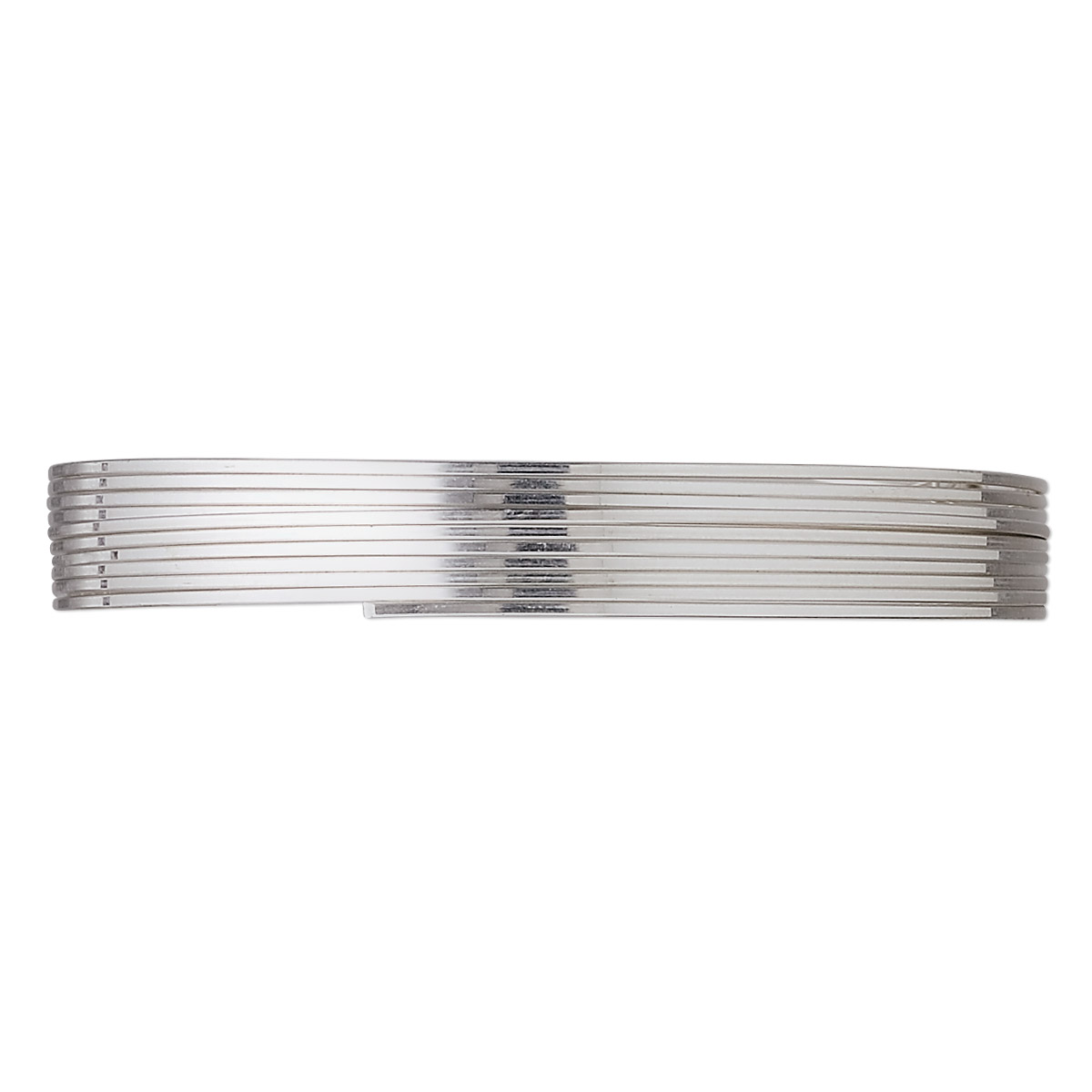 Wire, stainless steel, soft, square, 22 gauge. Sold per pkg of 6.5 ...