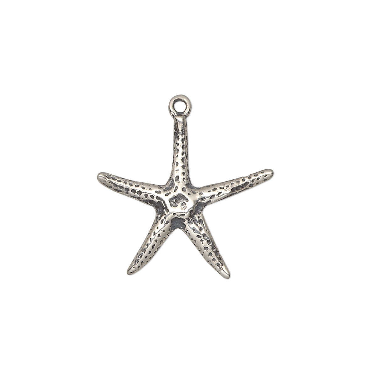 Charm  Sterling Silver  20x19mm Starfish  Sold