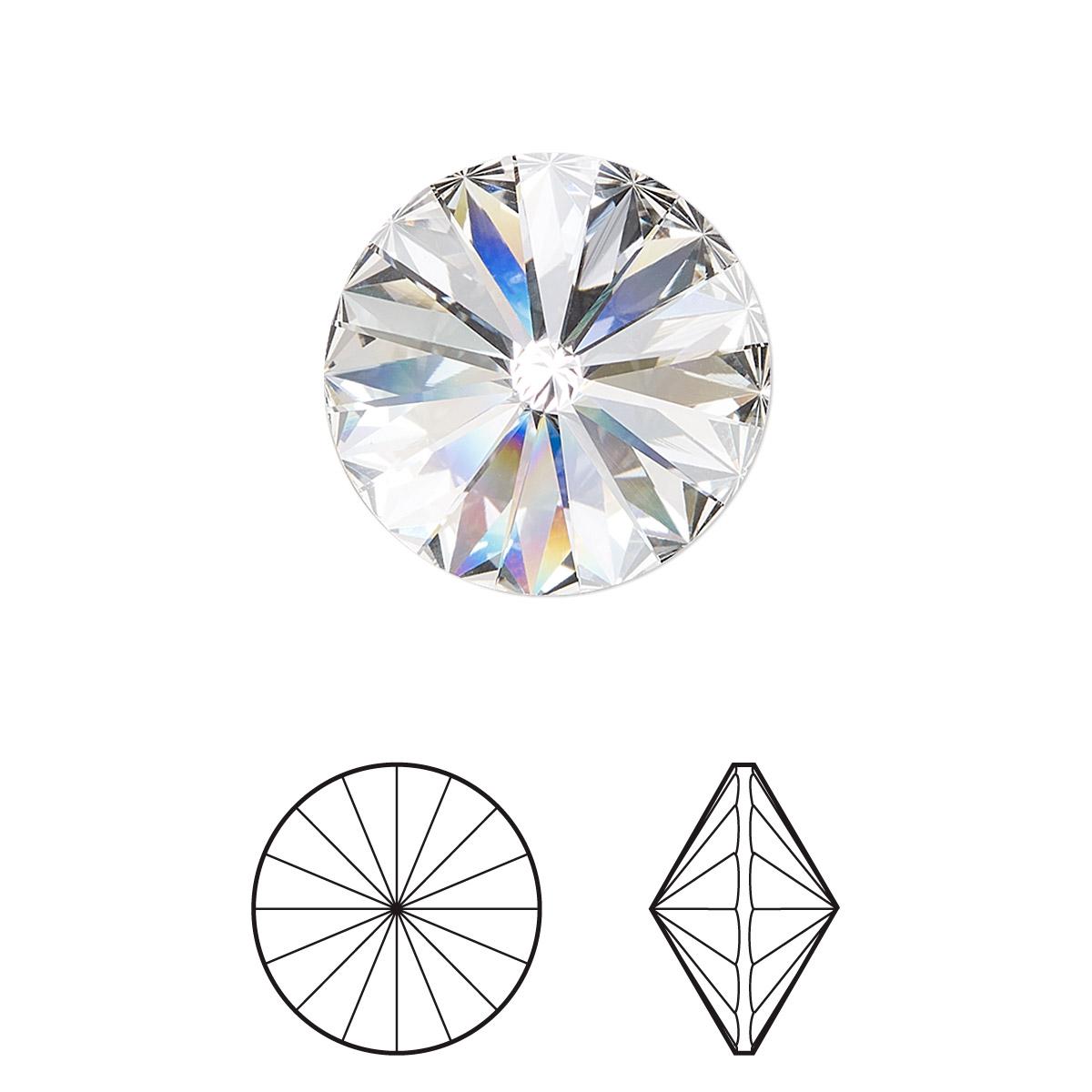 a401b91b6572e Chaton, Swarovski® crystal rhinestone, crystal clear, foil back ...