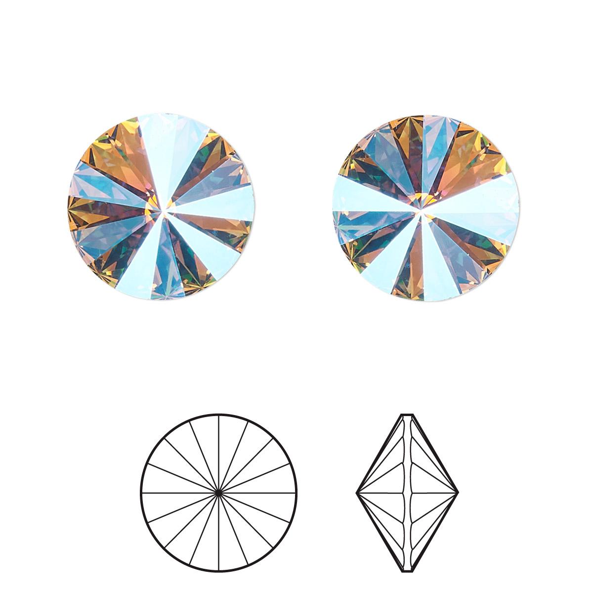 213fdf15c5001 Chaton, Swarovski® crystal rhinestone, violet glacier blue, foil ...