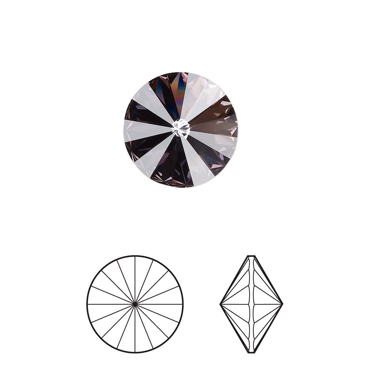 29e3854e343ca Chaton, Swarovski® crystal rhinestone with third-party coating ...