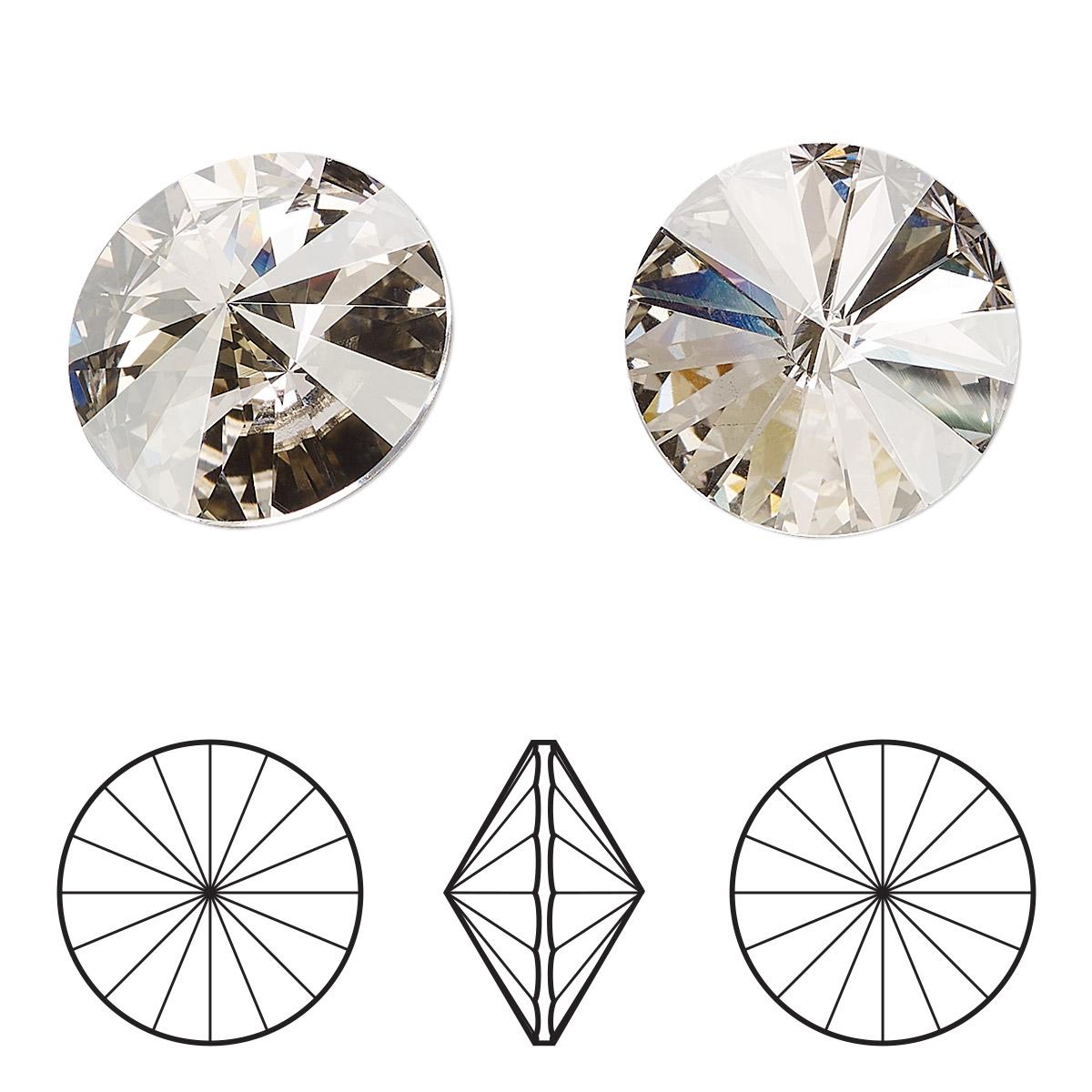 425df132101e8 Chaton, Swarovski® crystal rhinestone, crystal silver shade, foil ...