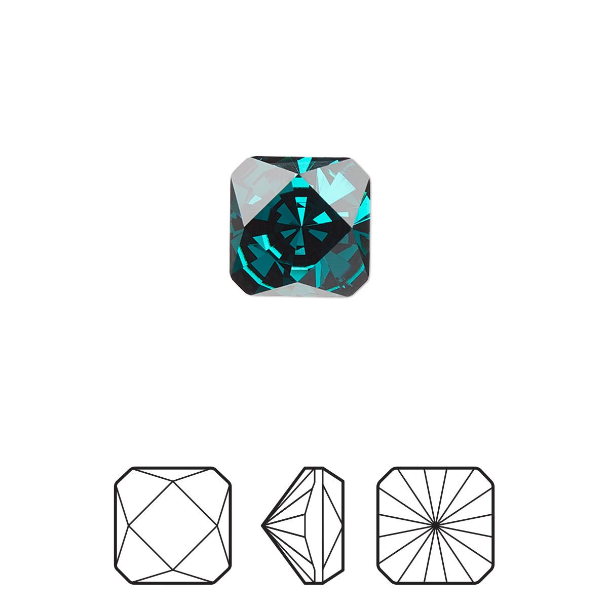 a737cfcd287 Embellishment, Swarovski® crystal rhinestone, emerald, foil back ...