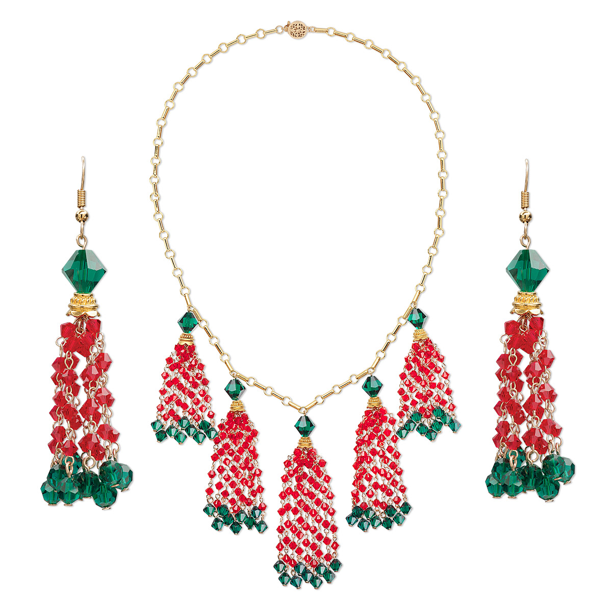 de009cdfc1b3f Necklace and earring set, One of a Kind Jewelry, Swarovski® crystals ...